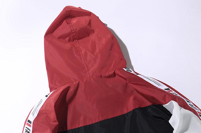 Color Block Patchwork Windbreaker Hooded Jackets 7