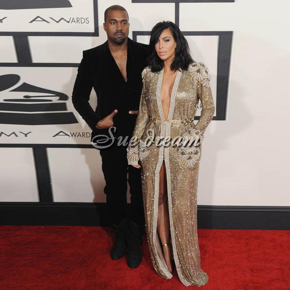 Kanye-and-Kim-at-the-Grammys