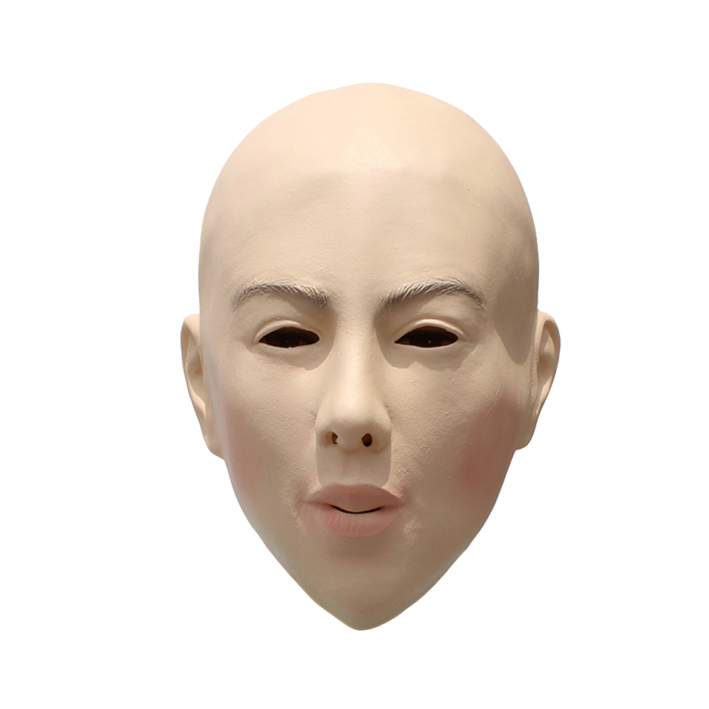 Bald Mask Durable Breathable Latex Halloween Mask Props Cosplay Props for Costume Halloween Carnival Easter Masquerade Parties