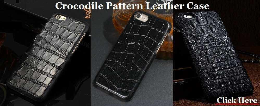 Crocodile leather case for iPhone 7 3d crocodile pattern back cover