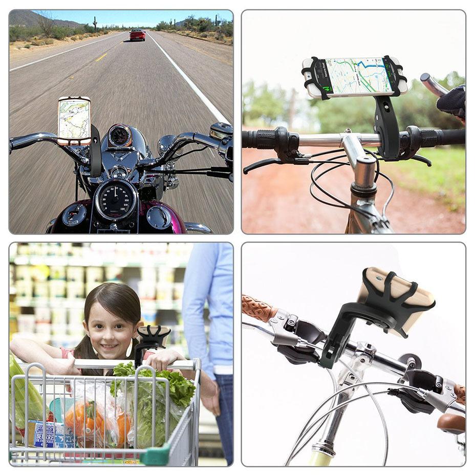 360 Degree Rotation Bicycle Phone Holder For Iphone X Iphone 8 Smartphone Bike Handlebar Mount Bracket Navigation Stand Holder (5)