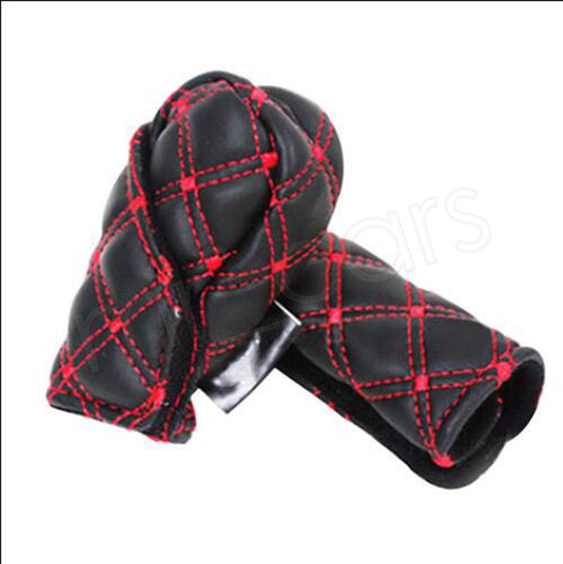 Fashion Car hand brake cover Manual Shift Knob Gear Stick Hand Brake Covers Interior Accessories GGA988