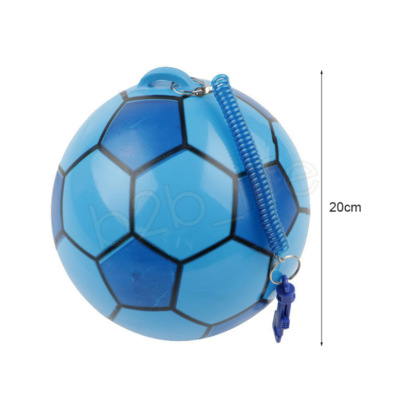 20cm PVC Inflatable Training Soccer with Chain Swimming Pool Football Play Water Game Balloons Beach Party Sport Kids Toys GGA1172