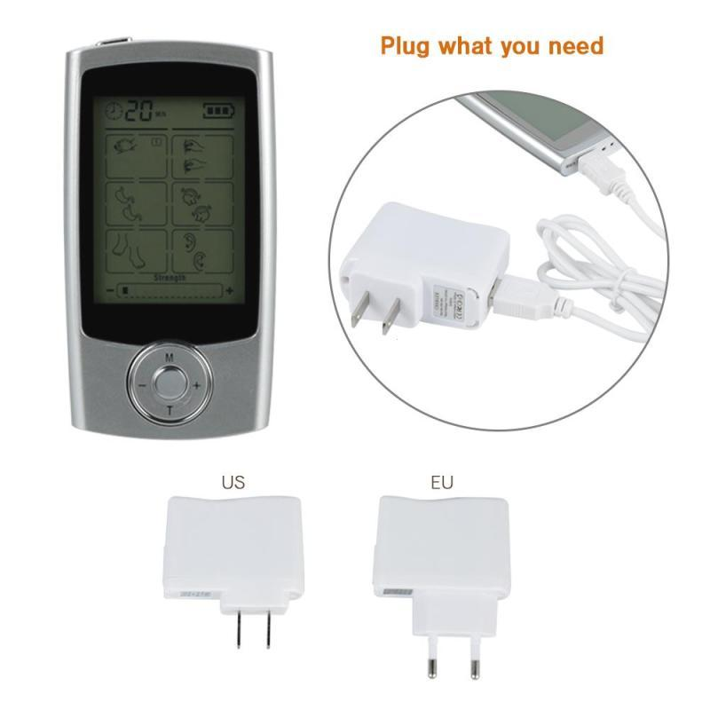Electric Body Massager Acupuncture Massage Pulse Patches Therapy Machine Relax Shoulder Pain Relief Electrode Pads RP2