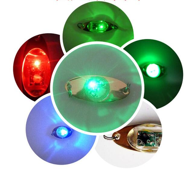 LED Night Fishing Light Hooks Deep Drop Underwater Eye Shape Fishing Squid Fish Lure Light Flashing Lamp GGA1106
