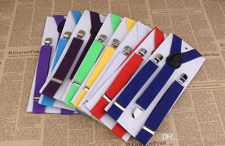 Wholesale --men's and women's general straps pure black female straps suspender straps three clamp two type 2.5 Cm 1901