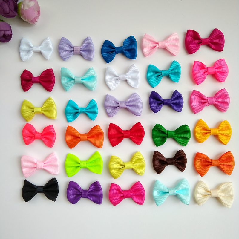 50pcs 1.4inch Children/'s Hair Accessories Hair Clip Bows For Baby Kids Girls