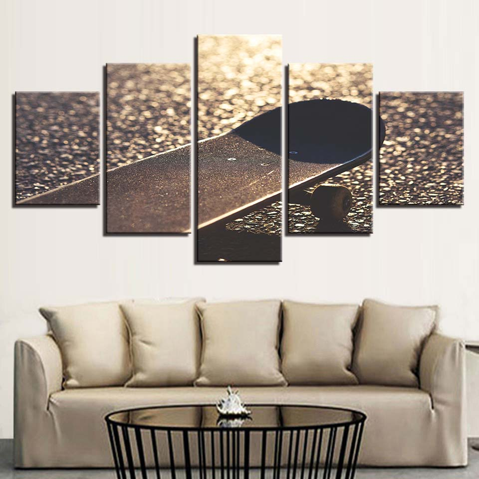 Living Room Poster Pictures Modern Home Decoration Sports Skateboard Frame Modular HD Printed Canvas Paintings Wall Art