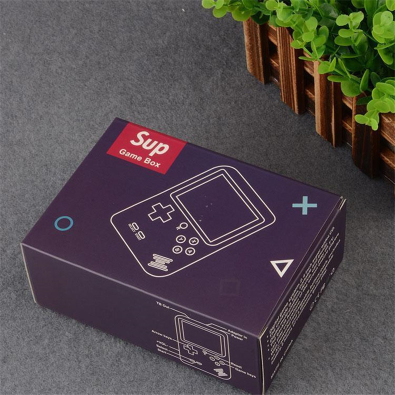 New Color Screen SUP Handheld Mini Game Console 129 in 1 Retro FC Games 8 Bit Nostalgic Game Player AV Output with Box for Child Xmas Gift