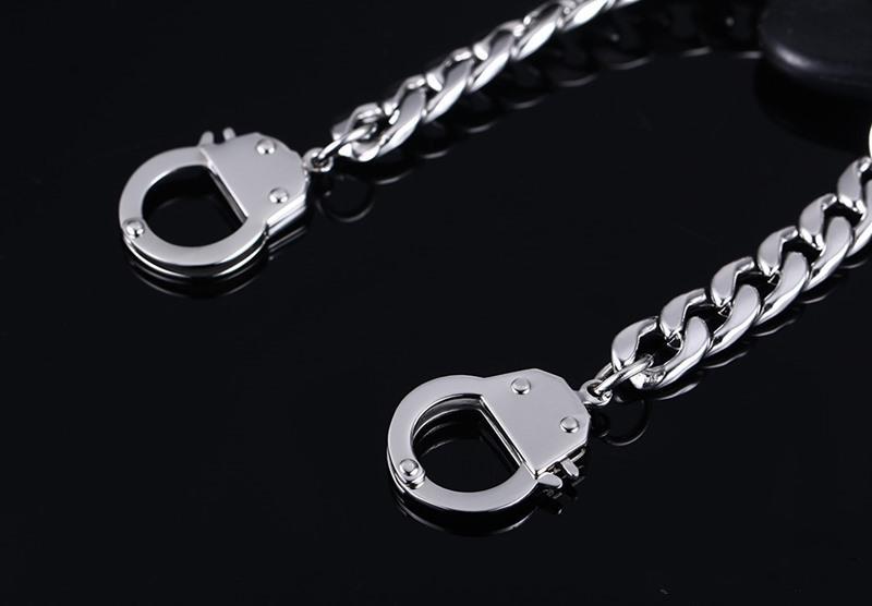 2017 Männer Handschellen Armband Edelstahl Gliederkette Armbänder Männer Schmuck Secret Shades Mens Handschellen Armband 20,5 cm KKA2196