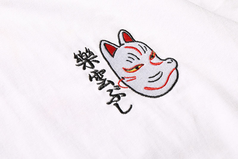 Japanese Embroidery Fox Mask Warrior Cats Tshirts 7