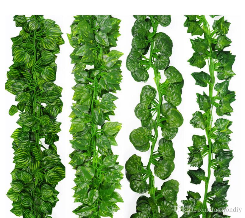 2020 2 Meter Long Artificial Leaf Green Leaves Artificial Boston Ivy Leaf Vine Evergreen Rattan Fake Green Vine Artificial Flower Cirrus Decora From Xmnovember 17 68 Dhgate Com