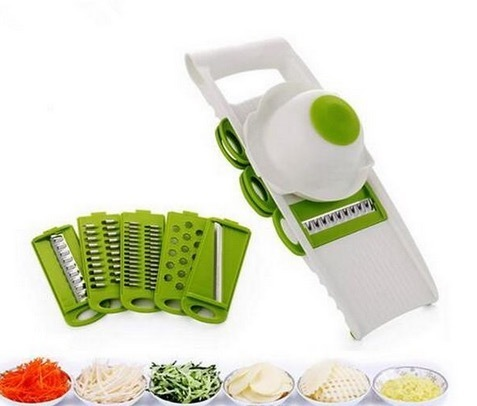 Slicer Vegetables Cutter With 5 Stainless Steel Blade Carrot Grater Onion Slicer Kitchen Accessories Potato Peeler Gadget Garnish Veggie