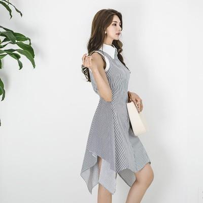 Vente chaude 2018 Nouvelles Femmes De Mode Robe En Mousseline De Soie Patchwork Tricot À Manches Longues Pulls Casual Tops Plus La Taille Y181114