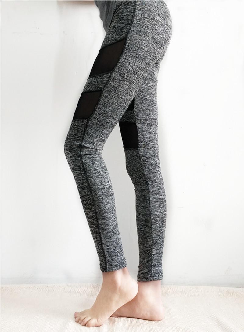 Lucylizz 2018 Sexy Mesh Patchwork Sport Leggings Hosen Frauen Fitness Kleidung Schwarz Gym Sportswear Laufen Hohe Taille Yoga Hosen
