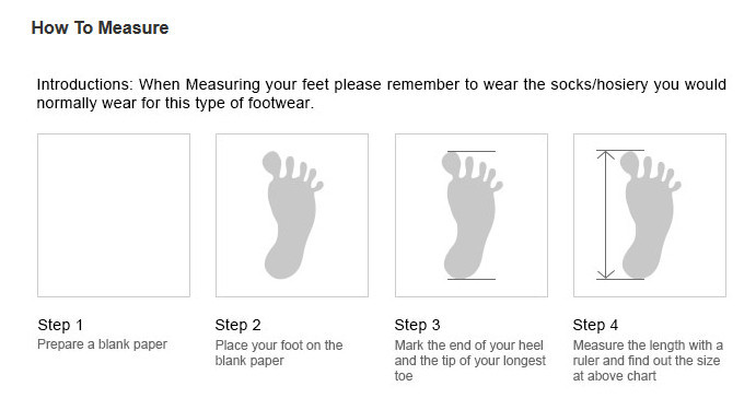 how to measure shoes size