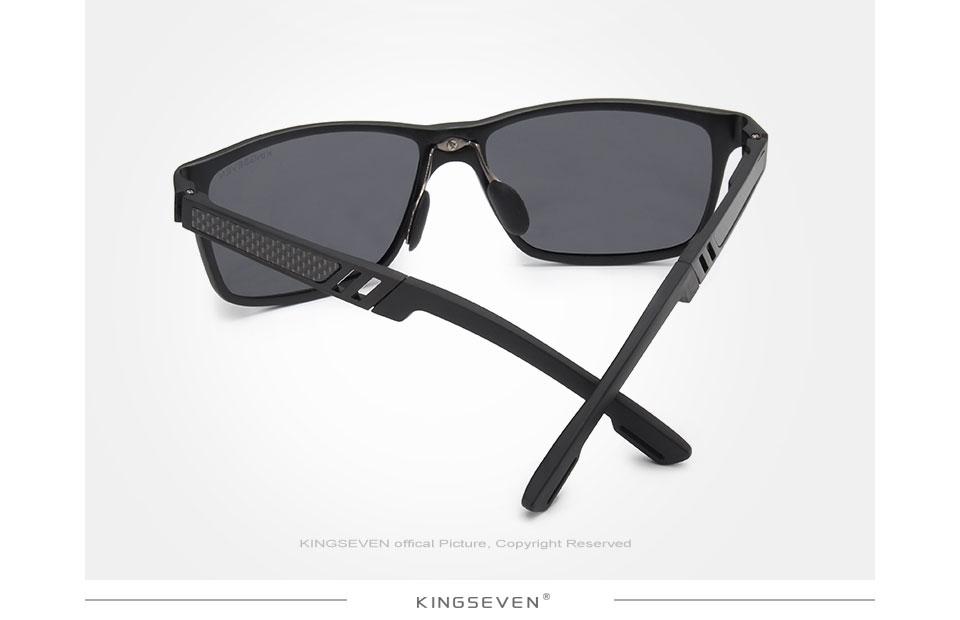 KINGSEVEN Men Polarized Sunglasses Aluminum Magnesium Sun Glasses ... 43e1a3cc73