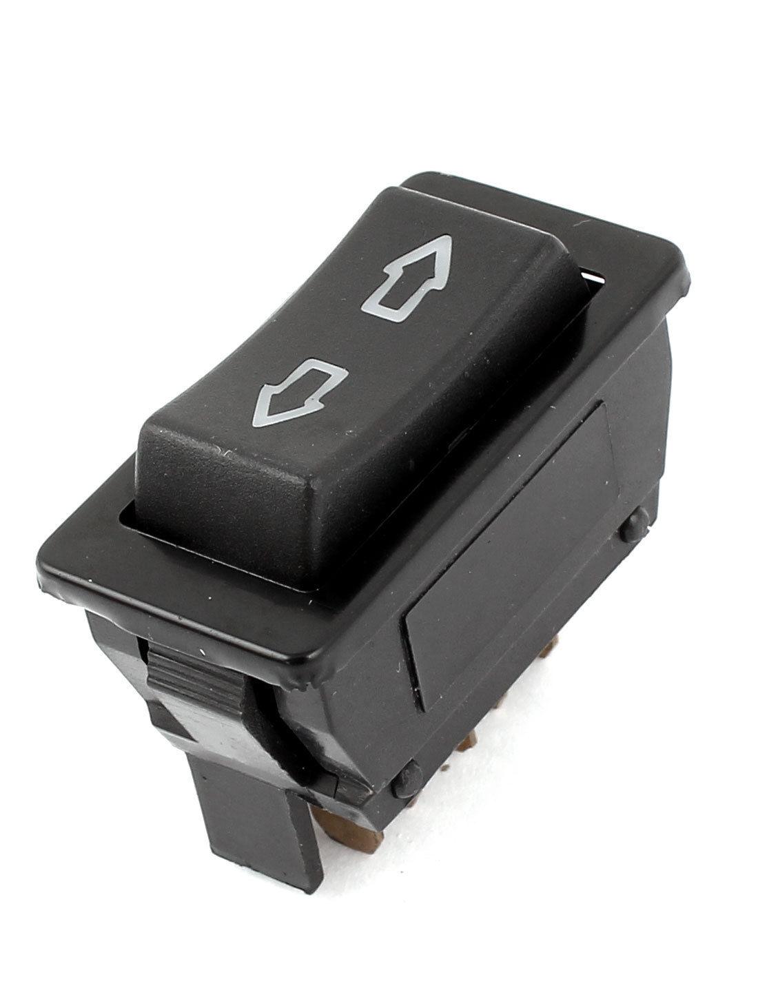 Car Panel Mount 5 Pins Momentary Window Glass Lift Switch Button DC 12V Window Lifter Switch FFA904
