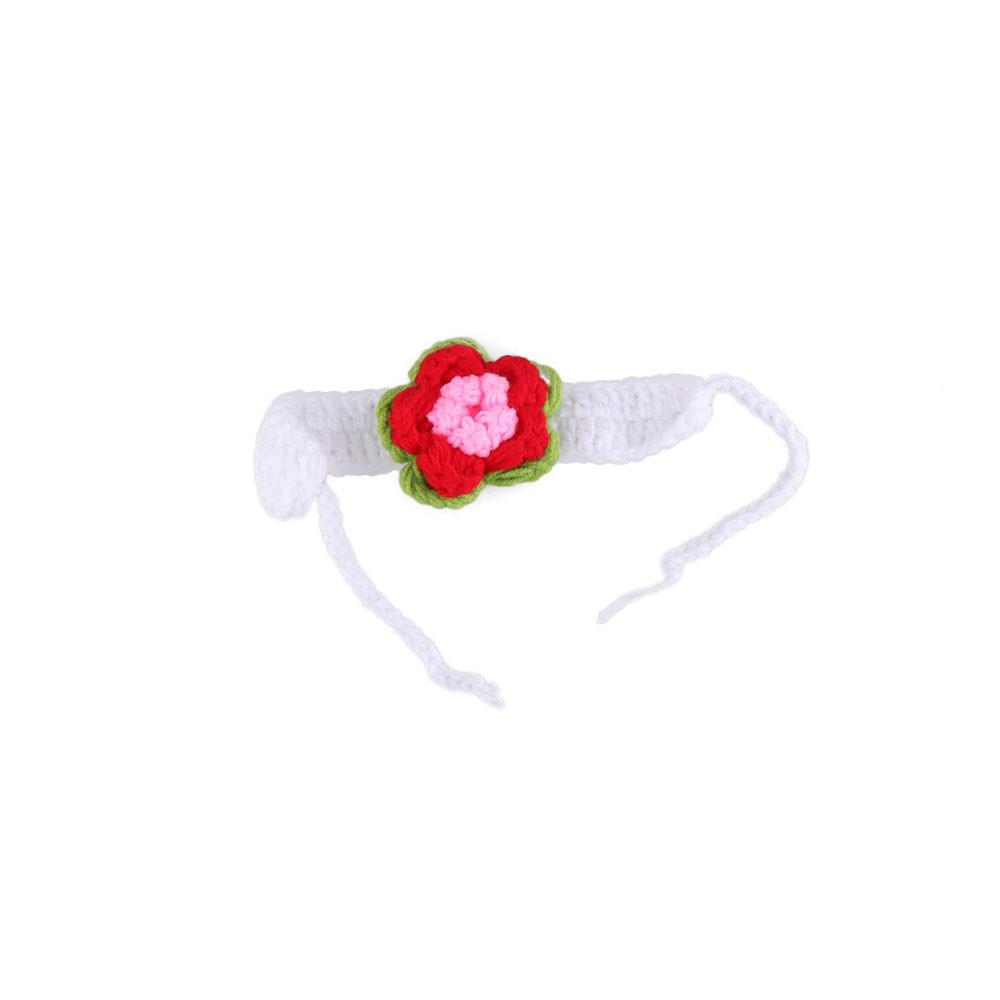 Las niñas bebés de ganchillo floral accesorios de fotografía de ganchillo flor blanca con el juego de pañales a juego traje de niña