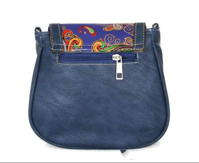 style newest handbags Fashion Hollow Out printing women bag PU leather women Messenger bag