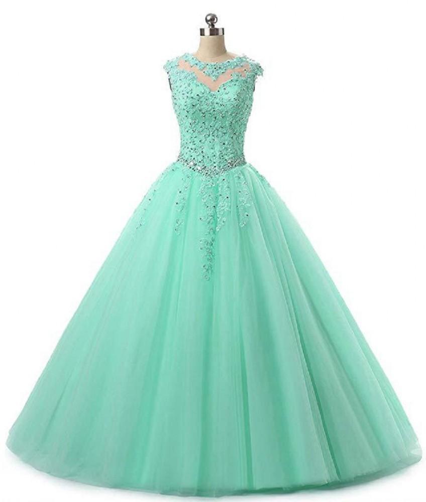 süße 16 quinceanera pageant kleider spitze applique tüll ballkleid prom  kleider lange vestidos 15 anos schlüsselloch zurück debutante masquerade  kleid