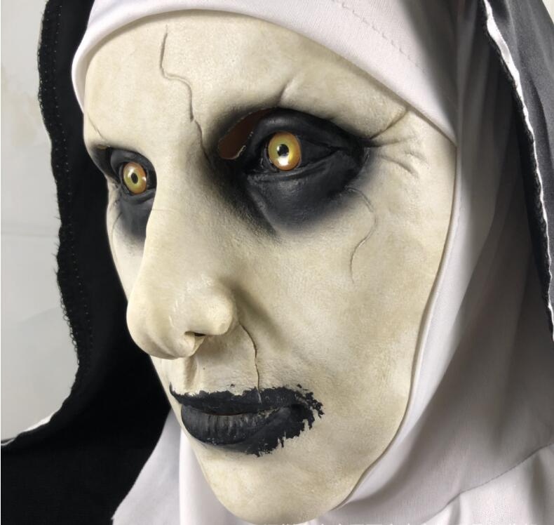 Erwachsene Zombie Schwester Nonne Kostüm Damen Karneval Horror Kostüm Outfit Neu
