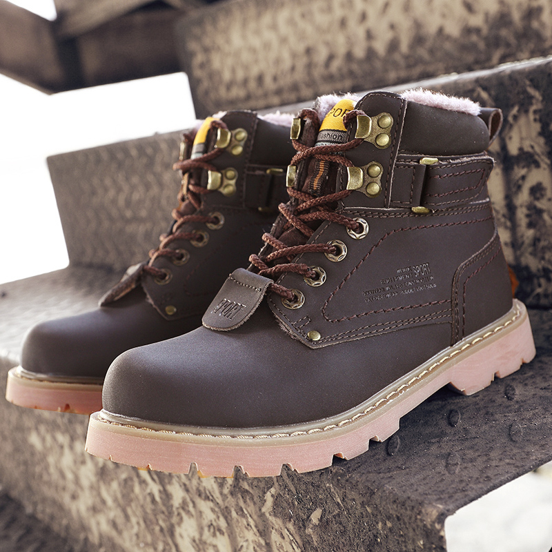 2018 Large Size New Style Hiking Outdoor Waterproof Autumn and Winter Martin Women Men Snow Boots Shoes Wholesale 11 12 44 45 46