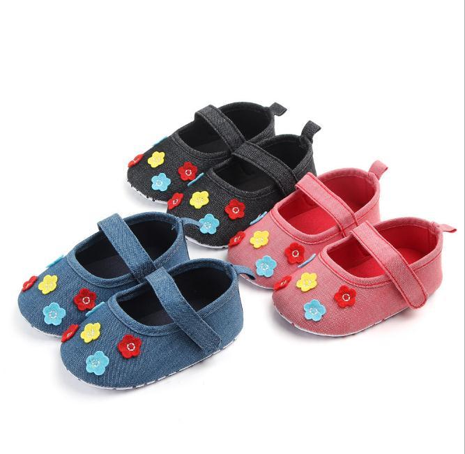 a6b2781652 Lovely Flower Baby Newborn Toddler Girl Crib Shoes Pram Soft Sole ...