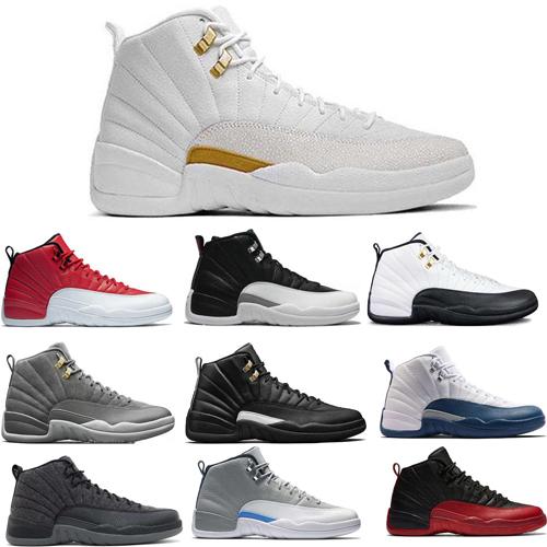 Nice Men 12 12s Chaussures de basketball New Men Motosports Bleu Alternate 89 Argent pur Ciment Blanc Monarchie Ciment Brûlé Feu Rouge Noir Chat