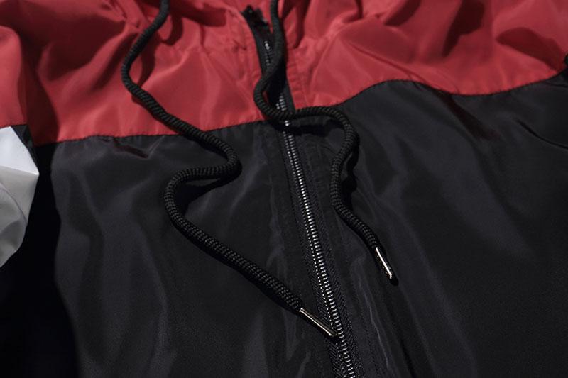 Color Block Patchwork Windbreaker Hooded Jackets 9