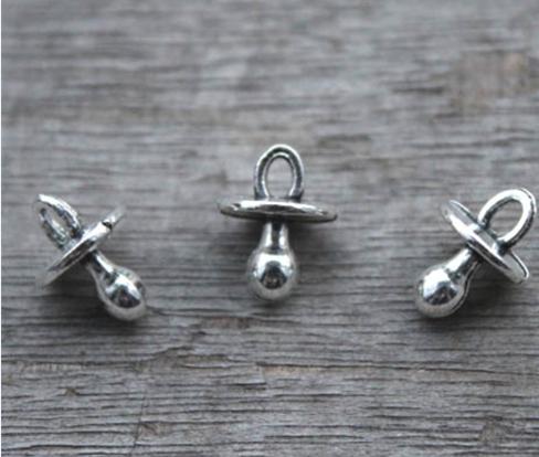 Baby Bottle charm//pendentif Tibétain Argent Antique 24 mm 10 Charmes À faire soi-même Bijoux