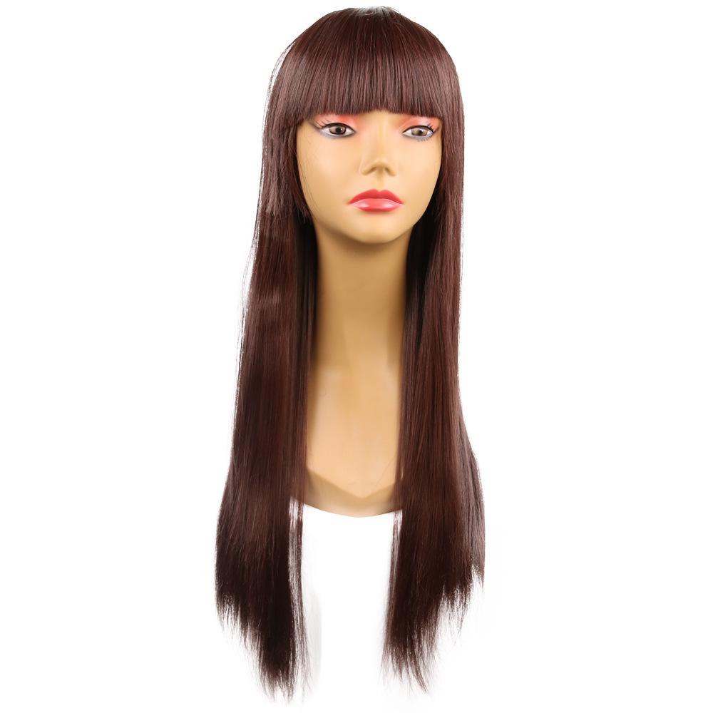 Isı Satmak Comic Peruk Cosplay Moda Hanımefendi Uzun Düz Saç Kimyasal Elyaf Headgearby haif