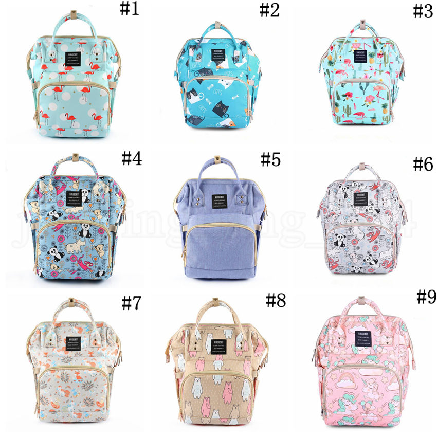 Flamingo Unicorn Mommy Bags Animal Printed Multifunction Diaper Maternity Backpacks Outdoor Nursing Travel Bags OOA5680