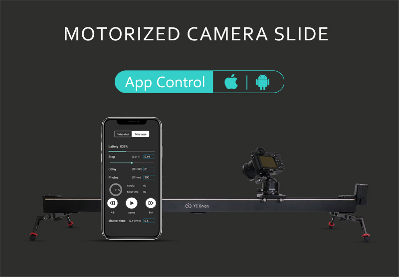 YC ONION Aluminum Motorized Camer Slider App Bluetooth Control Stable Smooth Slider Camera With Motor For Photography DSLR Video (7)