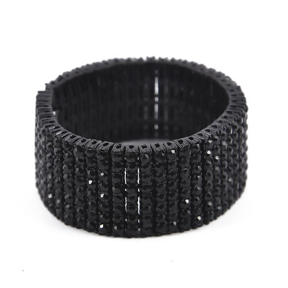 Fashion Design Men Bracelets Luxury 18K Gold Plated Chain 8 Rows Diamond Hip Hop Bracelet Fashion Jewelry Party Gift