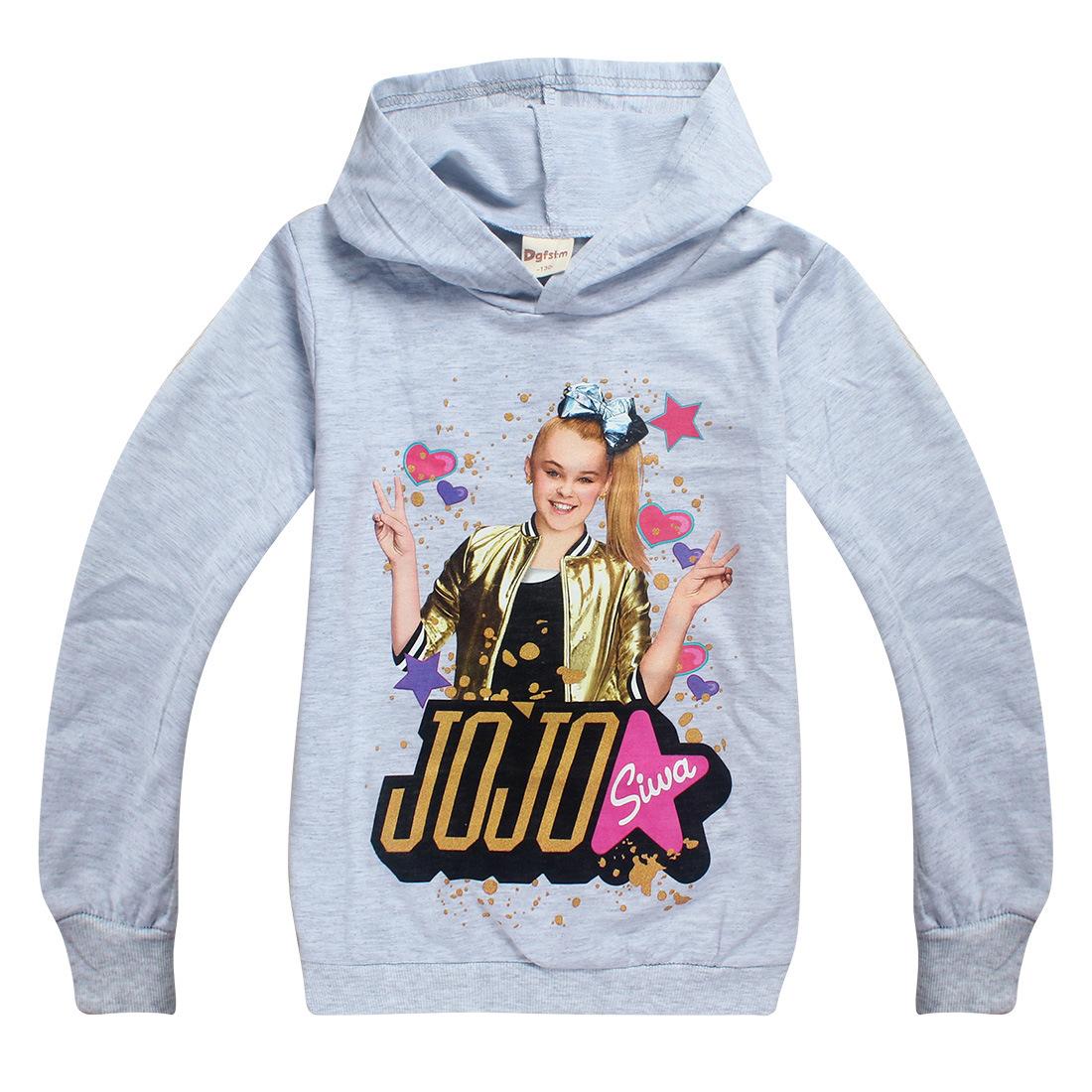 Jojo Siwa Women Hoodies Baby Girl T-shirt Spring Autumn Long Sleeve Hoodie for Children New Year Sweater tshirt Girls Kids