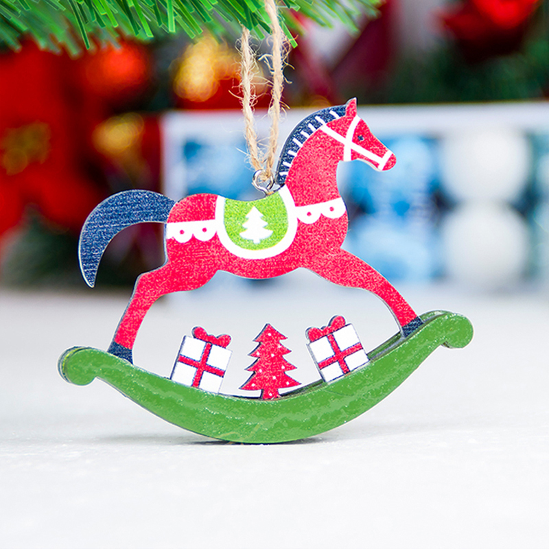 Christmas-tree-horse-pendant-Christmas-color-wooden-horse-ornaments-Xmas-door-hanging-decorations-for-Home-Party (3)