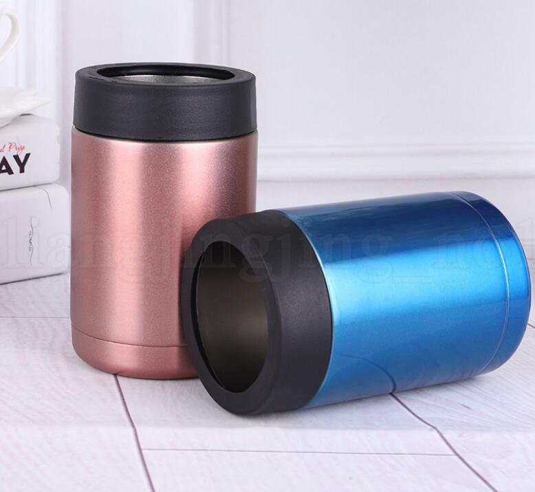 500ML Can Cooler Cup Aislador de bebidas de acero inoxidable Aislante Botella de cerveza Keeper Mug Beer Drink cup KKA6056