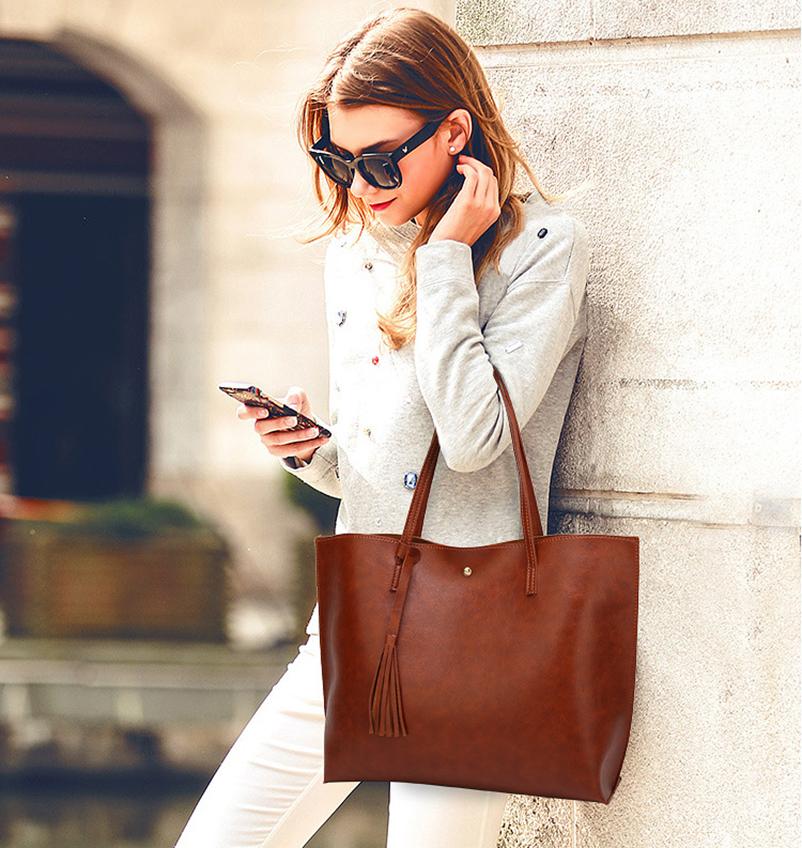 Nevenka Leather Handbag Women Casual Totes Female Shopper Ladies Shopping Bags Large Capacity Bags Vintage Bag for Women 201809
