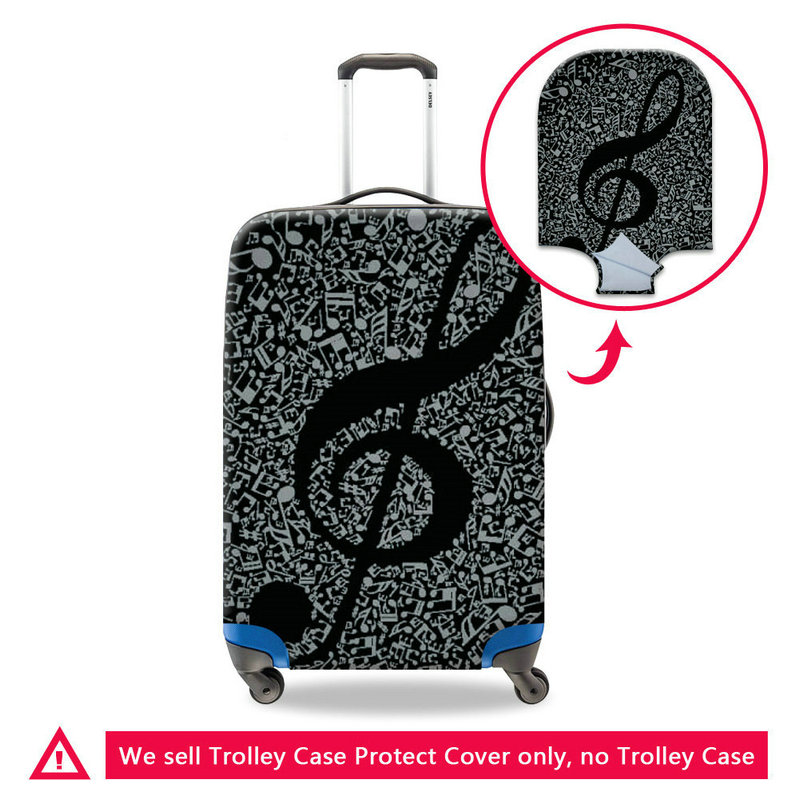 Luggage Cover China Blue Rose Abstract Protective Travel Trunk Case Elastic Luggage Suitcase Protector Cover