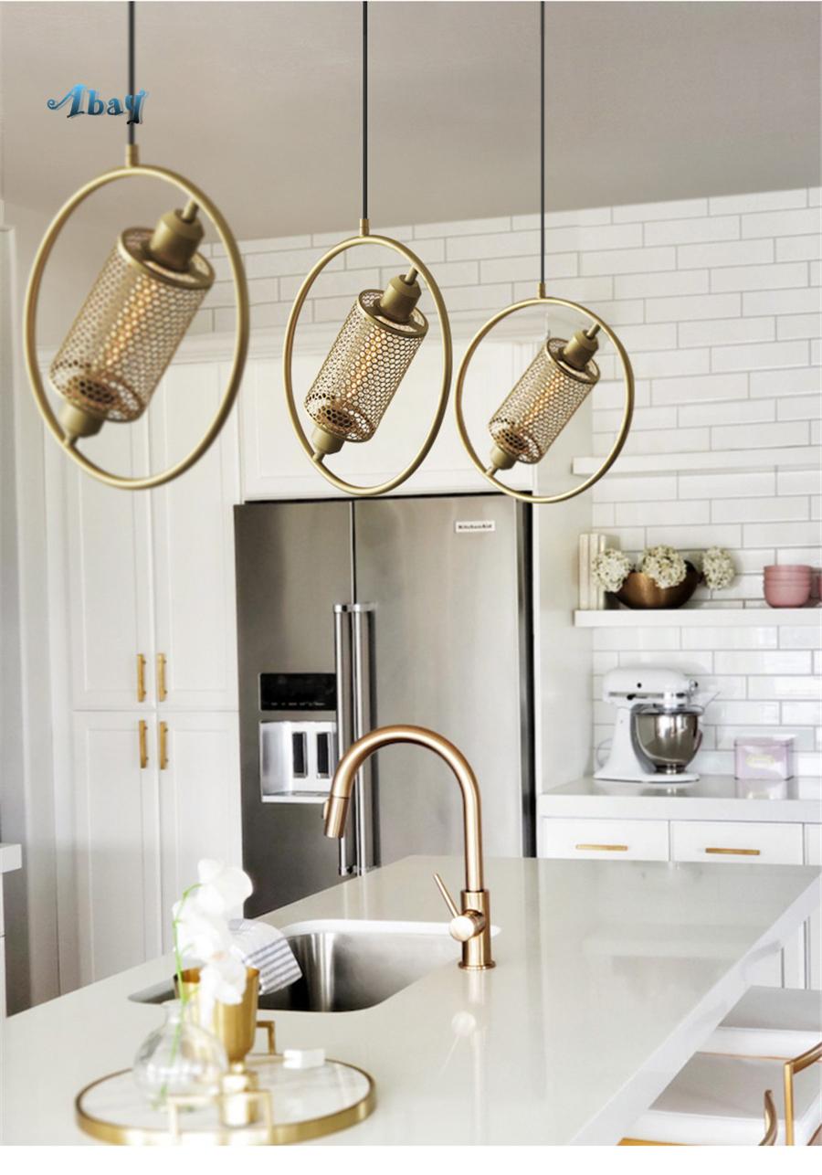 Großhandel Nordic Eisen Mesh Halo Pendelleuchten Für Wohnzimmer  Schlafzimmer Esszimmer Lichter Moderne Design Lampe Wohnkultur Hängelampe  E18 Von