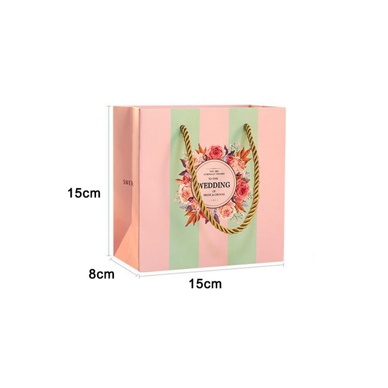 New 10pcs Creative Wedding Gift Bag Wedding Favors Chocolate Paper Candy Bag Wedding Decoration Craft DIY Event Party Supplies