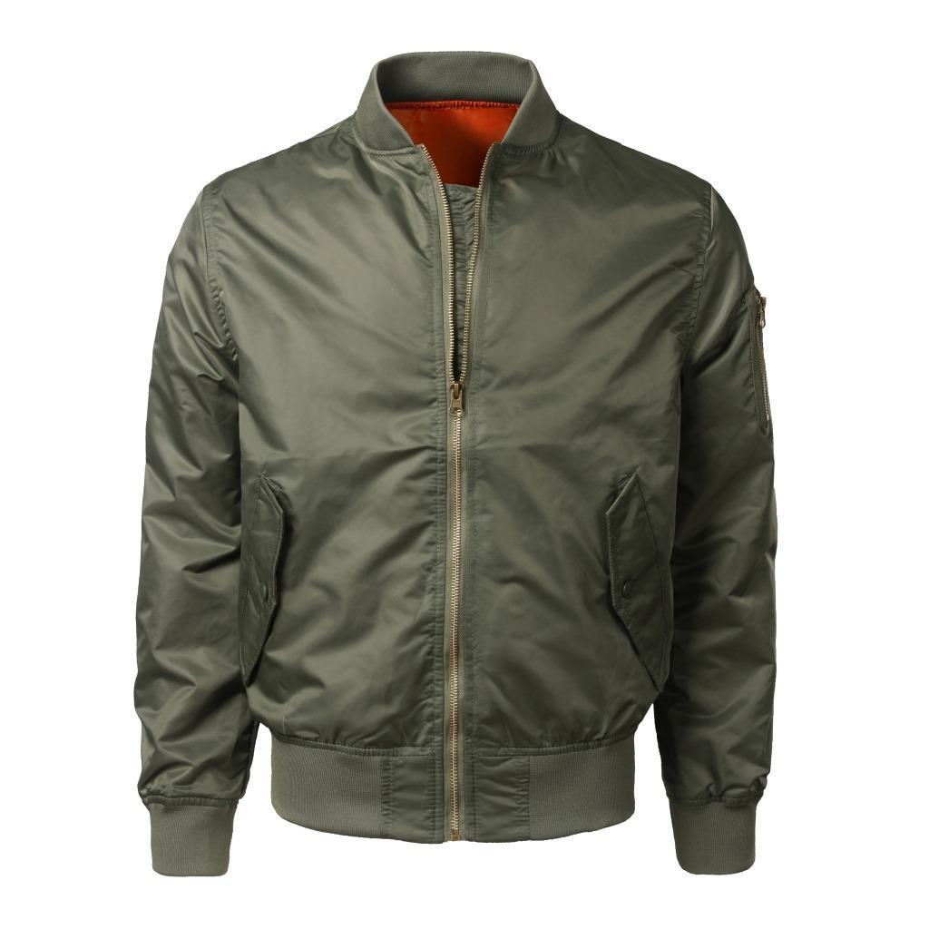 Spring MEN/'S Air Veste MA1 Veste Blouson Aviateur Veste Manteau Outwear