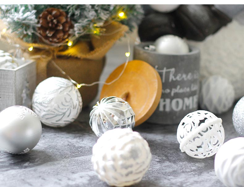 11inhoo 20pcs Christmas Tree Ornament Balls plastic 6cm Xmas Baubles Accessories Christmas Decorations For Home Party Gift