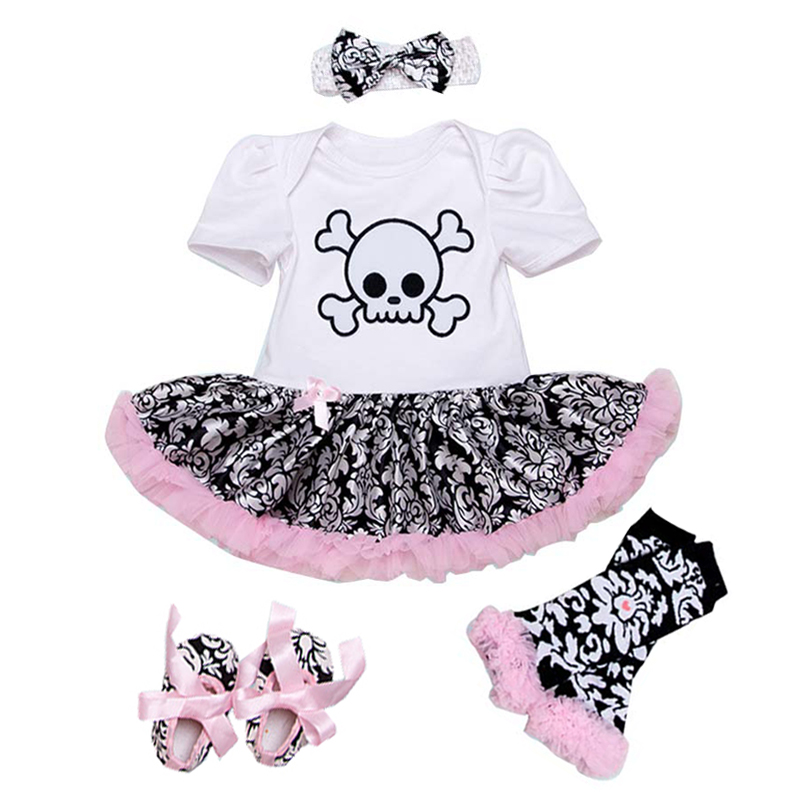 Suspend Skirts Set Clothing Set Newborn Baby Girls Floral Print Outfit Skirt Set Short Sleeve Romper Bodysuit