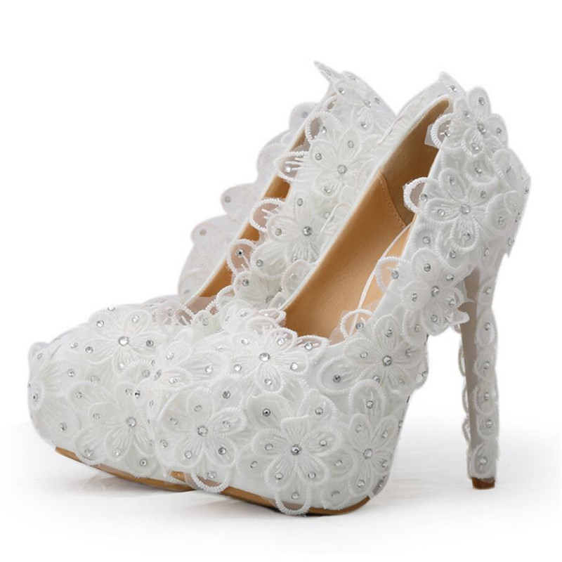 White Wedding Shoes For Bridesmaids