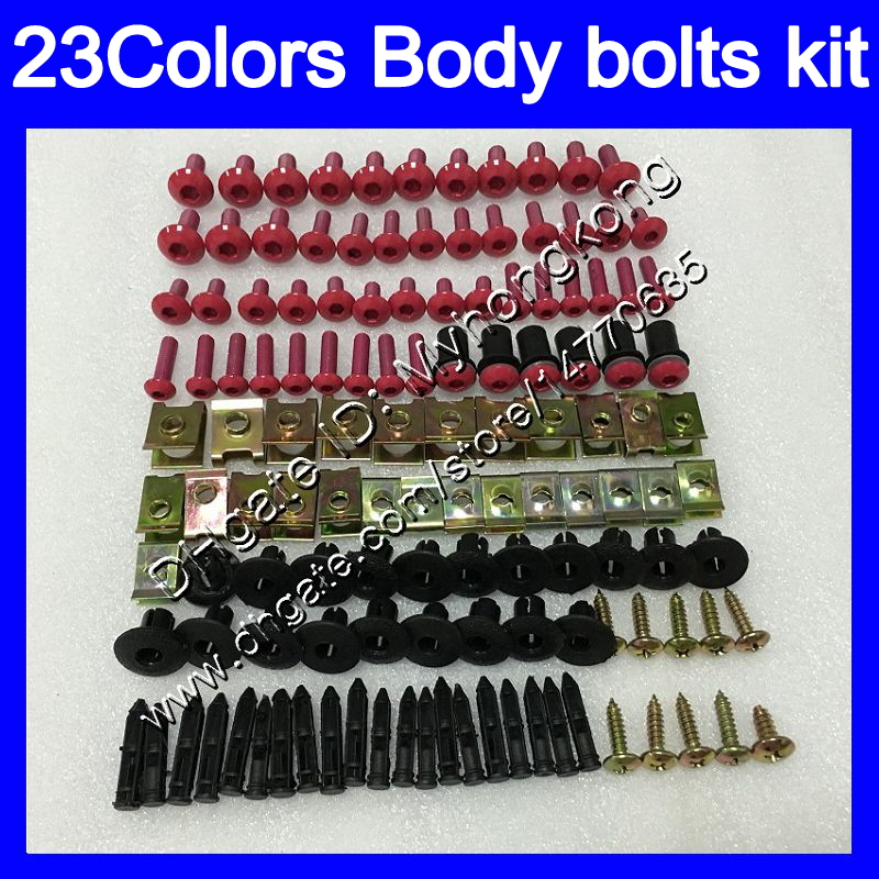 GHMotor Complete Fairings Bolts Screws Fasteners Kit Set Made in USA for 2003 2004 KAWASAKI ZX6R ZX-6R 636 Black GHMotor-3018BX-bk