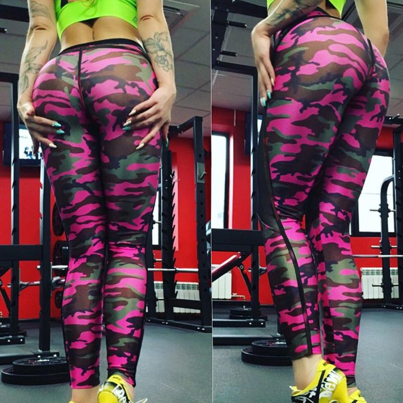 Fashion Mesh Skull Leggings Women Push Up Workout Printed Legging Femme Casual Patchwork Leggings S-XL