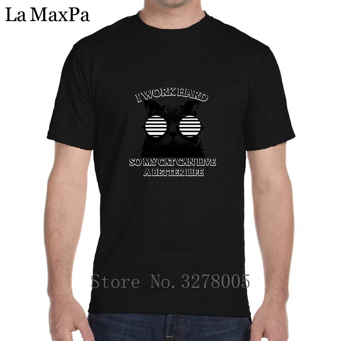 Печать футболка человек одежда повседневная кошка лучшая жизнь футболка для мужчин Каваи хлопок Camisas Hombre лето стиль размер S-3xl
