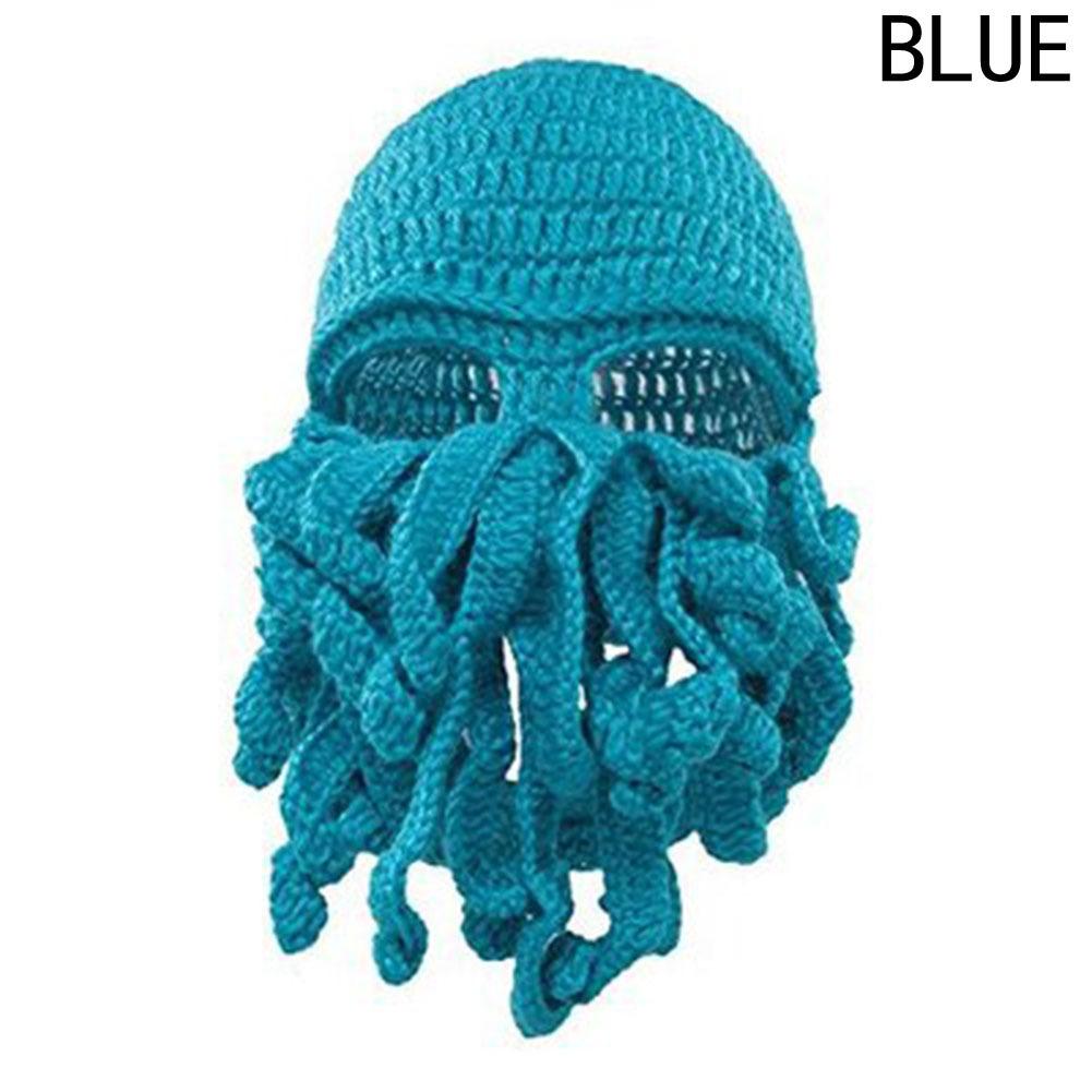 2018 Новый в продаже унисекс осьминог зима теплая вязаная шерсть маска для лица шляпа кальмара Cap Ктулху щупальца Шапочка Hat C18111601